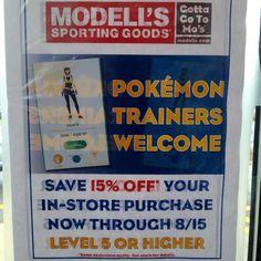 Ejemplo de cómo #pokemongo es usado como promoción de #negocios.