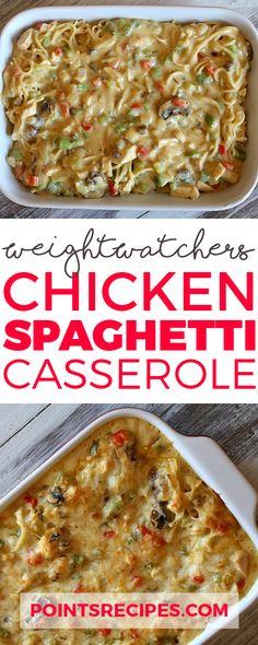 Chicken Spaghetti Casserole (Weight Watchers SmartPoints)