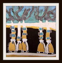 """Saatchi Art Artist Marita Milkis; Painting, """"Congregation"""" #art"""