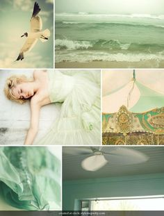 seafoam and gold