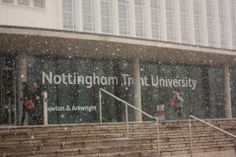 I think it was snowing in this pic. Nottingham Trent University, Things To Think About, Places, Lugares
