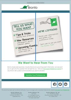 Bronto Update Your Preferences Email 2014