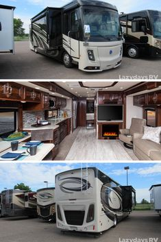 Search The RV Authority's expansive inventory of new & used RVs online. Lazydays features thousands of motor homes, travel trailers, fifth wheels and more. Bus Motorhome, Rv Bus, Luxury Motorhomes, Motorhomes For Sale, Luxury Rv Living, Luxury Rv Resorts, Rv Vehicle, Ford Mustang Wallpaper, Cool Rvs