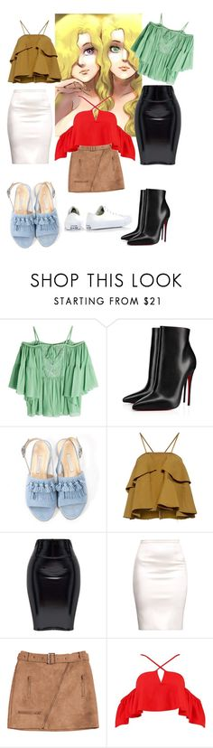 """""""Dress up conjoined"""" by arachan on Polyvore featuring Roberto Cavalli, Christian Louboutin, Bionda Castana, Rachel Comey, Boohoo and Converse"""