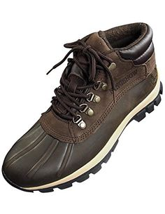 great Kingshow - Mens Warm Waterproof Winter Leather High Height Snow Boot
