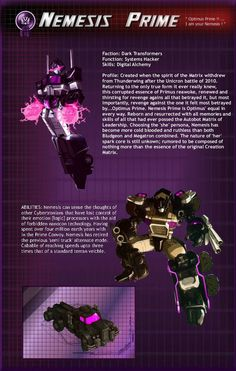 Software used: Gimp Most of you have seen these(my TF buddies) i recently decided to redo the whole layout * change the Text/Font per some recome. MTMTE Nemesis Prime part 1 Transformers Characters, Transformers Art, Gi Joe, Nemesis Prime, Big Robots, Kamen Rider Decade, Shattered Glass, Optimus Prime, Sound Waves