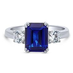 Shop for La Vita Vital White Gold Emerald cut Tanzanite & Diamond TDW - Purple. Get free delivery On EVERYTHING* Overstock - Your Online Jewelry Destination! Opal Gemstone, Gemstone Rings, Lab Diamonds, Blue Rings, Designer Engagement Rings, Blue Sapphire, Blue Topaz, Jewelry Gifts, Emerald Cut