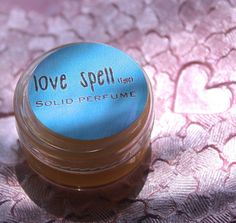 SALE Love Spell Type Solid Perfume by daisycakessoap on Etsy