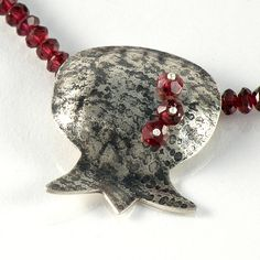 Pomegranate Pendant Pomegranate Sterling Silver by EfratJewelry