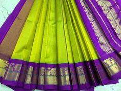 Silk Cotton Sarees, Pure Silk Sarees, Wedding Saree Blouse, Dressing Sense, Green Saree, Thread Jewellery, Elegant Saree, Traditional Sarees, Asian Style