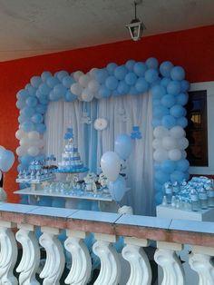 Decoração de Chá de Bebê Azul
