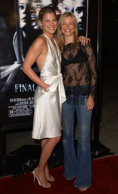 Ali Larter with close friend Amy Smart.
