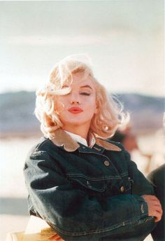 #Marilyn Monroe by Eve Arnold, sporting Lee Storm Rider Jacket