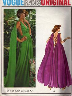 If I made this would you wear it???? Vintage Sewing Pattern - Vogue 1135 - Emanuel Ungaro