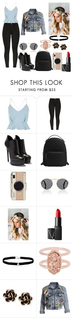 """""""❤❤❤"""" by alexia-riosalavez ❤ liked on Polyvore featuring River Island, MANGO, Kate Spade, Prada, Emily Rose Flower Crowns, NARS Cosmetics, Amanda Rose Collection, Kendra Scott, Chantecler and Alice + Olivia"""