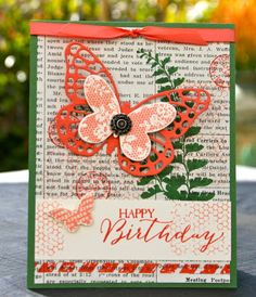 Krystal's Cards: Stampin' Up! Butterfly Bundle May Online Stamp Class Garden Green #stampinup #krystals_cards #butterflybundle #butterflybasics #papercrafts #handstamped #cardmaking #sharethefun #stampsomething #sendacard #birthdaycard
