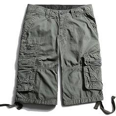 52e8ecf7f9 Cargo Cotton Shorts for Men Baggy Bermuda Multi Pockets S... https:/