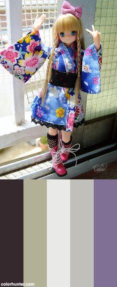 Sky's New Yukata <3 Color Scheme from colorhunter.com