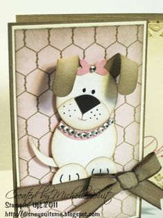 Stampin' Up!  Punch Art  Michelle Suit  Puppy Dog