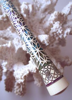 "New Design-The ""Princess Eve"" Mosaic Hair Stick Featuring Holly inlaid with Blue, Green and Purple Resin by TimberstoneTurnings on Etsy"