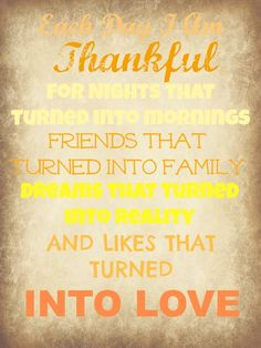 Each day I am thankful... quote autumn fall blessing thankful thanksgiving
