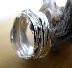 Handmade silver rings... Do want!  #handmade #jewelry