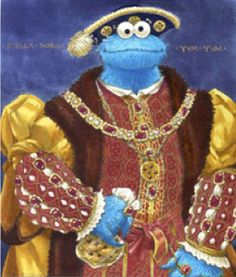 """Hans Holbein's Henry VIII Parody... """"Henry the Ate"""""""