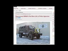 This Should Be Concerning:   Local PD Armed For War Against Citizens! MRAP's  a LIST of Towns Involved -Published on Jun 30, 2014 The Big One is Coming Soon!! Gun confiscation, martial law, and an MRAP package coming to a local PD near you!!! You have TO READ THIS! Here is the link that goes with the post: http://b4in.info/jbUk
