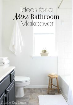 Great ideas for a mini bathroom makeover. #bathroom #diybathroom #bathroomdecor #bathroomdecorideas