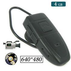 Bluetooth Earbud Earphone Camera Hidden Recorder DVR Surveillance Gadget with 4GB Memory