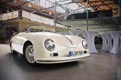 White Porsche 356 #porsche
