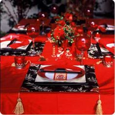 Bellissimo: Chinese New Year Table Setting & Centerpieces Ideas