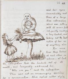 """""""Advice from a Caterpillar"""", original manuscript by Lewis Carroll"""
