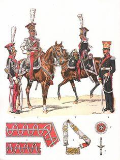 Imperial Guard, 1st regiment (Polish) Chevau-Legers Lanciers , Officers, 1807-1814 (Plate 75a)