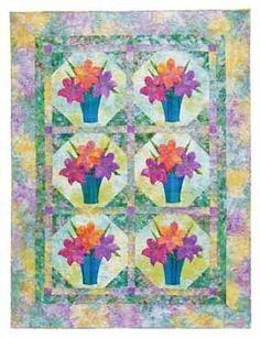 Additional Images of Flower Show Quilts by Lynn Ann Majidimehr - ConnectingThreads.com