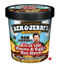 Ron Swanson's All of the Bacon and Eggs You Have : Scotch flavored ice cream with all the bacon and eggs we had