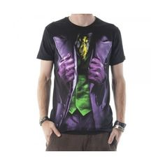 Batman Dark Knight Joker Mens Costume Tee ($14) ❤ liked on Polyvore featuring men's fashion, men's clothing, mens clothing and men's apparel