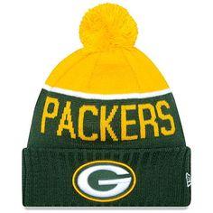 e99e4ec209c Green Bay Packers Authentic New Era On Field Sideline Pom Pom Beanie Hat  New W