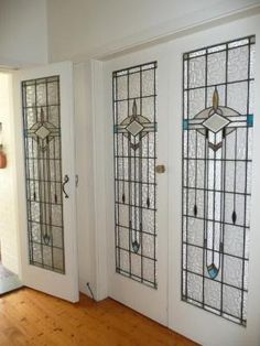 Art deco leadlight by deidre Stained Glass Door, Stained Glass Designs, Stained Glass Panels, Stained Glass Patterns, Leaded Glass, Mosaic Glass, Glass Doors, Art Deco Door, Art Deco Glass