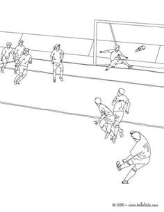 Soccer player scoring a free kick coloring page. You can choose a nice coloring page from FIFA WORLD CUP SOCCER coloring pages for kids. Enjoy our free . Sports Coloring Pages, Coloring Pages For Kids, Coloring Books, Soccer Match, Football Match, School Art Projects, Art School, Tiger Wallpaper, Free Kick