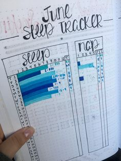Sleep Log layout for my bullet Journal. This layout helps to better see the range of total sleep other than the hours that were spent asleep