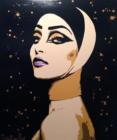 © #Art #Painting #Kunst Size 120x100cm  http://nl-nl.facebook.com/pages/Marilyn-van-Raaij-Moderne-kunst/179801248743795?sk=wall_data   Marilyn van Raaij from The Netherlands #Woman #face #vrouw #gezicht #powerwoman  #popart