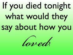 How are you loving?