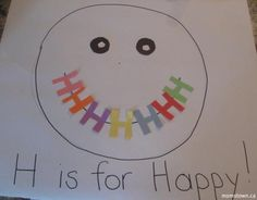 H is for Happy! Emotions Theme or letter H week