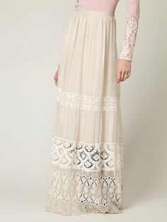 Love and Liberty Demure Lace Maxi Skirt at Free People Clothing Boutique