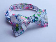 0676daebd7dc Items similar to Lilly Pulitzer POP Fabric Bow Tie on Etsy