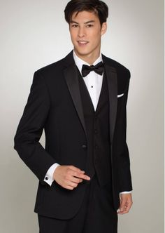 Black Super 100s Skinny Two Button Notch by Ralph-Lauren - Tuxedos