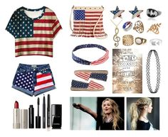 """""""Celebrating 4th of July w/ Sabrina"""" by creative-with-fashion ❤ liked on Polyvore featuring Charlotte Russe, OAS, EF Collection, Allurez, Ilia, Bobbi Brown Cosmetics, MAC Cosmetics and Chanel"""