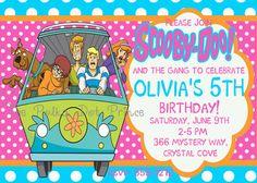 Scooby doo birthday invitation ticket party invites by mimisal