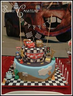 Car Birthday Cake ♡ ♡